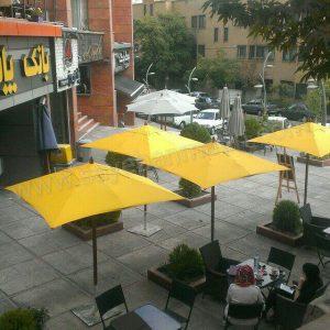سایبان چتری چوبی مرکز خرید البرز نیاوران
