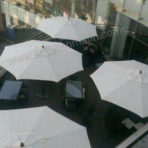 سایبان چتری چوب قطر سه متر