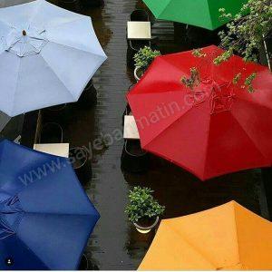 سایبان چتری در رنگ های مختلف