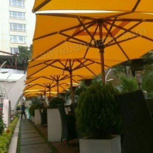سایبان چتری چوبی مربع 4 متر