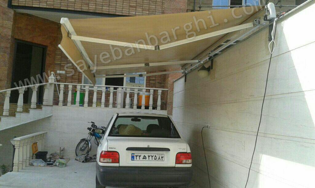 سایبان پارکینگ اجرا شده توسط نماینده جهرم